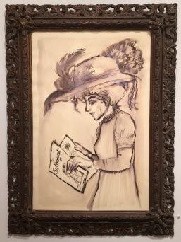 Suffragist reading